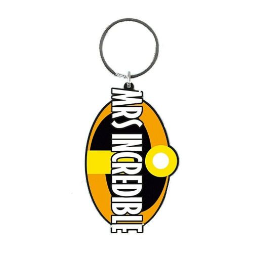 Disney Pixar Incredibles 2 Mrs Incredible Keyring Rubber Keychain Fob